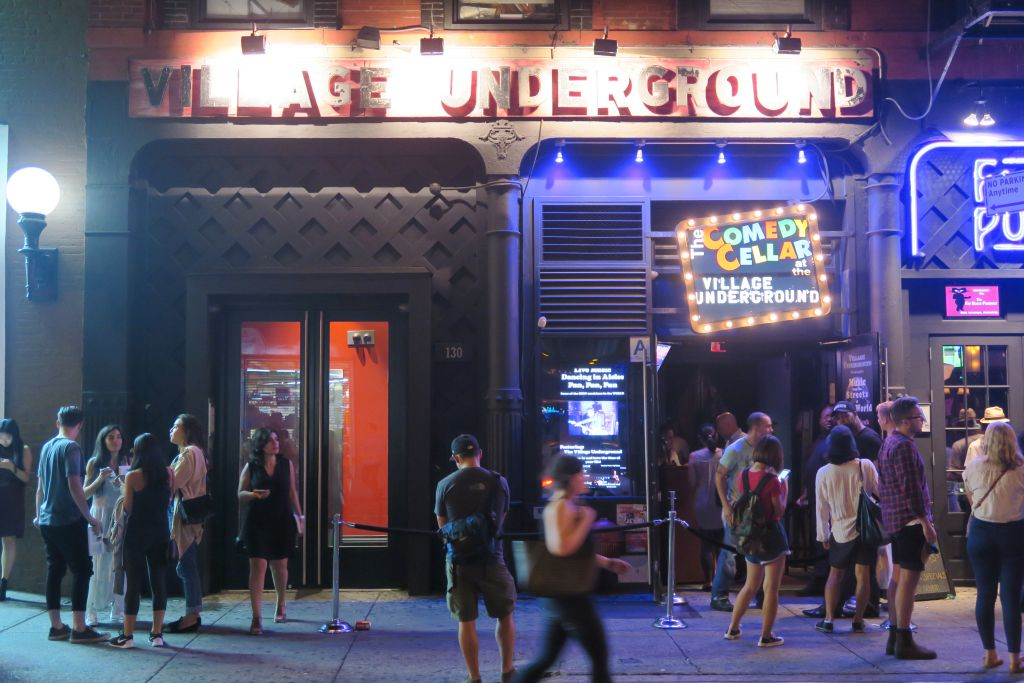 The exterior of New York's Comedy Cellar, the unusual venue for a debate over the Iran Deal on September 4, 2015. (Luke Tress/The Times of Israel)