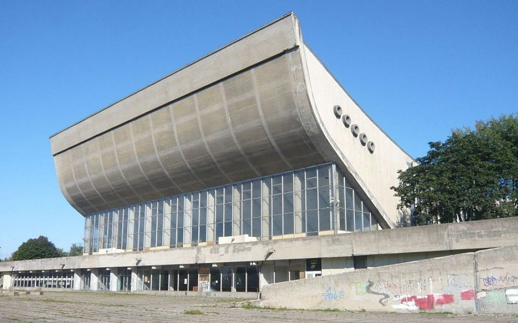 The Vilnius Palace of Concerts and Sports, a complex that was shut down a decade ago, is the site of a proposed $25 million conference center. (Flickr Commons/via JTA)