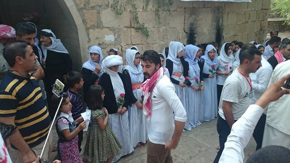 Yazidis at Lalish, a holy pilgrimage site (Photo credit: Facebook)