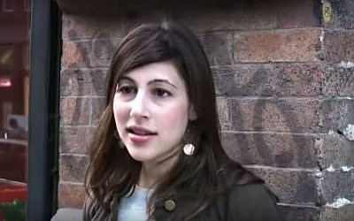 Alana Shultz, the former program director at Congregation Shearith Israel, says she was fired from her job in July 2015 because she was pregnant at the time of her wedding. (YouTube)