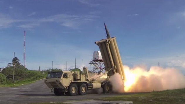 A US THAAD interceptor defense system during a test launch (Screen capture: YouTube)