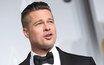 Brad Pitt at the 86th Academy Awards in Los Angeles on March 2, 2014. (Joe Seer/Shutterstock / JTA)