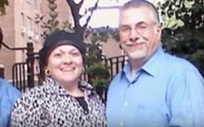 Morris Faitelewicz (R), 58, and his wife, Beth, 54, who were killed in a car crash in the Catskills; Yehuda Bayme, 31, who was engaged to their daughter, was killed in the crash as well (YouTube screen cap)