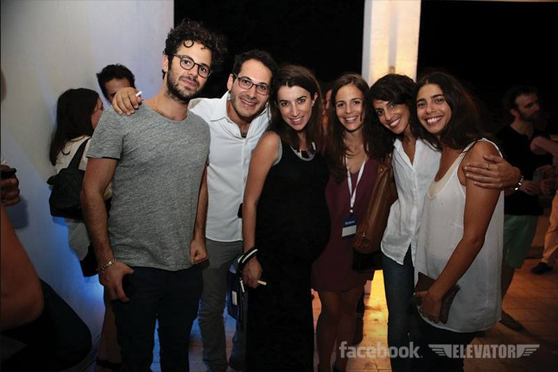 Partygoers at a recent soiree co-sponsored by the Elevator and Facebook Israel (Photo credit: Facebook)