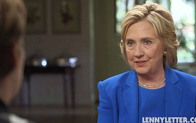 Hillary Clinton being interviewed by Lena Dunham for LennyLetter.com, September 2015. (screen capture: Politico)