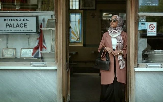 Muslim model Maria Idrissi as featured in H&M's autumn 2015 collection video. (screen shot: YouTube via H&M)