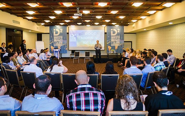 Participants at this year's ID2 Conference in Caesarea, August 30, 2015 (Netanel Tobias)