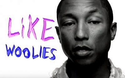 Pharrell Williams in a promotional campaign for retail group Woolworths (Screenshot from YouTube)