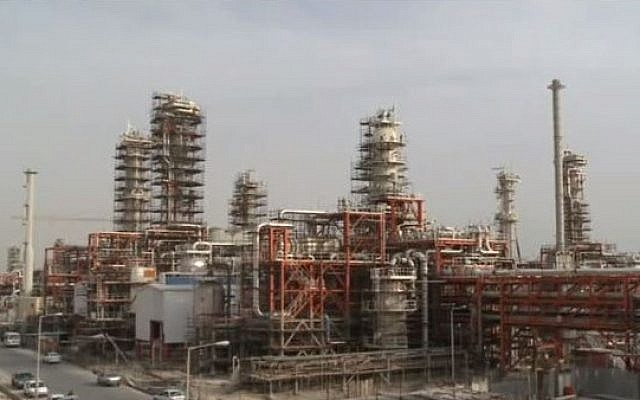 Iranian gas infrastructure in the South Pars field. (YouTube/Ministry of Petroleum of Iran)