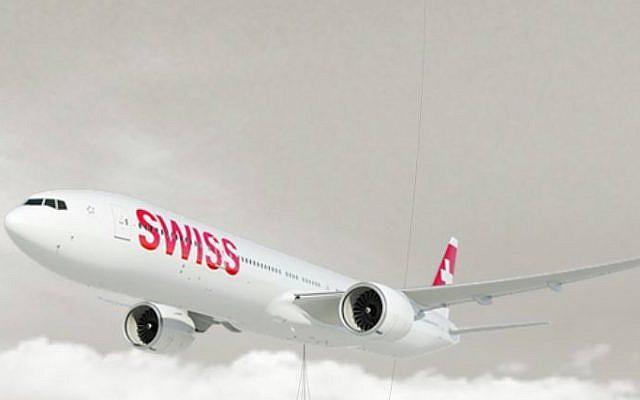 A Swissair Boeing 777. (Screen capture/Swissair website)
