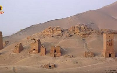 Tower tombs at Palmyra, Syria (YouTube screenshot)