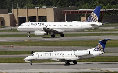 Illustrative: United Airlines United Express planes take off at George Bush Intercontinental Airport Wednesday, July 8, 2015, in Houston. (David J. Phillip/AP)