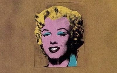 Andy Warhol portrait of Marilyn Monroe (YouTube screenshot)