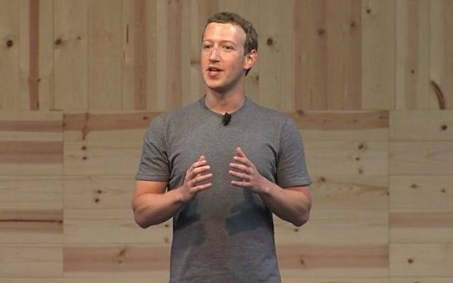 """Facebook founder and CEO Mark Zuckerberg announcing the company's new testing of a """"dislike' button, September 15, 2015. (screen capture/Facebook/Vimeo)"""
