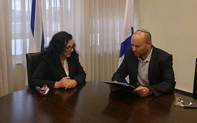 Education Minister Naftali Bennet resigns his Knesset seat, October10, 2015. (Photo courtesy of Jewish Home Spokesman)
