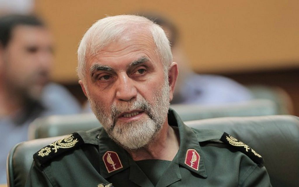 A file picture taken in Tehran on September 6, 2011, shows Iran's Revolutionary Guards Brig. Gen. Hossein Hamedani attending a ceremony. (AFP Photo/Behrouz Mehri)