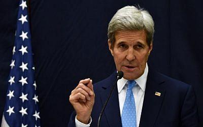 US Secretary of State John Kerry on October 6, 2015 (Hector Retamal/AFP)
