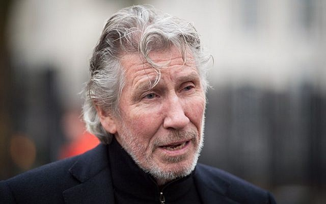 This February 13, 2015 file photo shows British musician Roger Waters of Pink Floyd as he talks to members of the media outside the US embassy in central London. (AFP PHOTO / LEON NEAL)