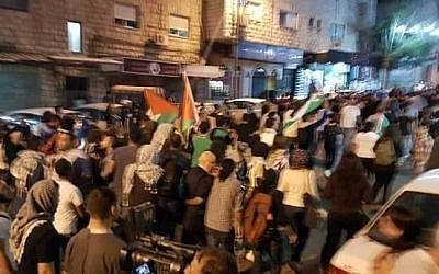 Nazareth protest turns violent as protesters clash with security forces. (Photo by Noor Hussein)