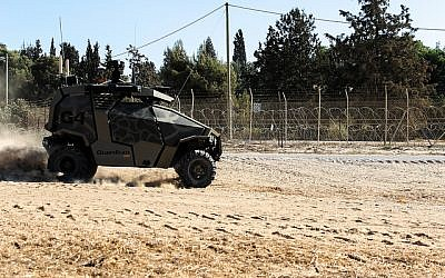 The Guardium, an Israeli-made unmanned ground vehicle, is one of Israel's most advanced weapons on its border with Gaza. (Zev Marmorstein/IDF Spokesperson's Unit)