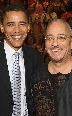 In this undated photo from Trinity United Church of Christ, Barack Obama poses with the church's pastor, Rev. Jeremiah Wright in Chicago. (AP Photo/Trinity United Church of Christ, File)