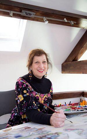 Beverley-Jane Stuart at work in her London studio. (courtesy)