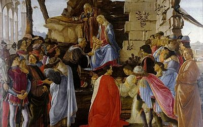 Sandro Botticelli's 'Adoration of the Magi' c. 1475–1476, Tempera on panel (public domain)