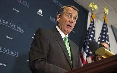 House Speaker John Boehner of Ohio speaks during a news conference on Capitol Hill in Washington, October 21, 2015. (Photo AP Photo/Evan Vucci, File)