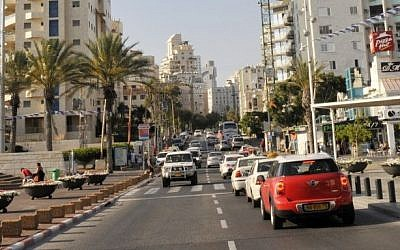 File: The coastal town of Netanya, central Israel, in 2014. (Serge Attal/Flash90)
