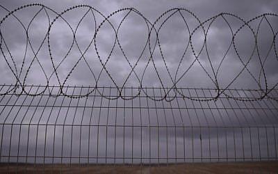 The Israel-Gaza border fence. (Tomer Neuberg/Flash90)