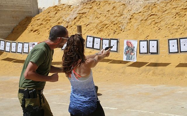 A shooting range in the West Bank on April 08, 2015. (Gershon Elinson/FLASH90)