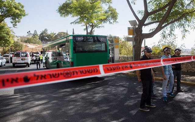 Richard Lakin and two others were killed in a bus attack in Jerusalem in October 2015 (Yonatan Sindel/Flash90)