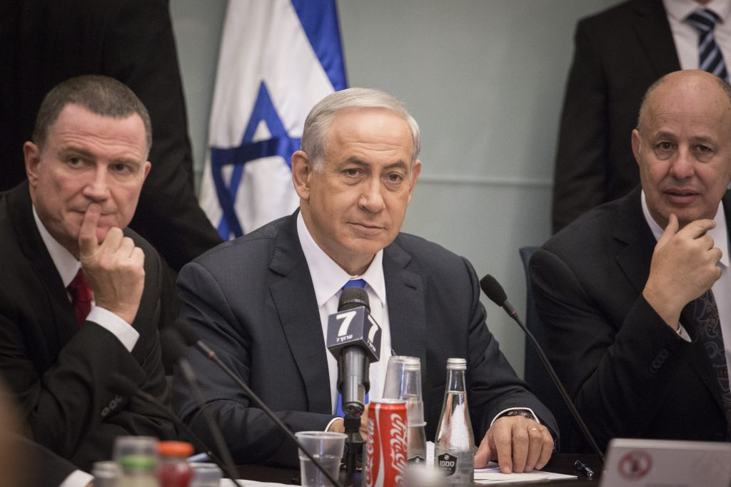 Prime Minister Benjamin Netanyahu attends the Foreign Affairs and Defense Committee at the Knesset, October 26, 2015. (Photo by Hadas Parush/Flash90)