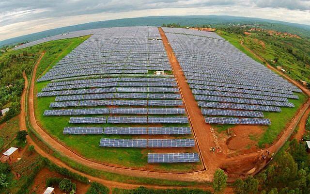 Aerial view of Gigawatt Global's Rwanda solar project (Courtesy)