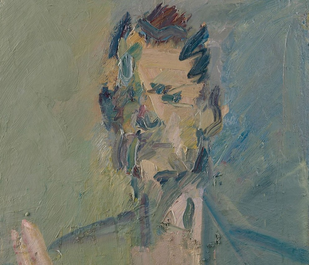 A painting by Frank Auerbach of his son Jake. Oil paint on canvas, 2008. (Courtesy: Marlborough Fine Art)