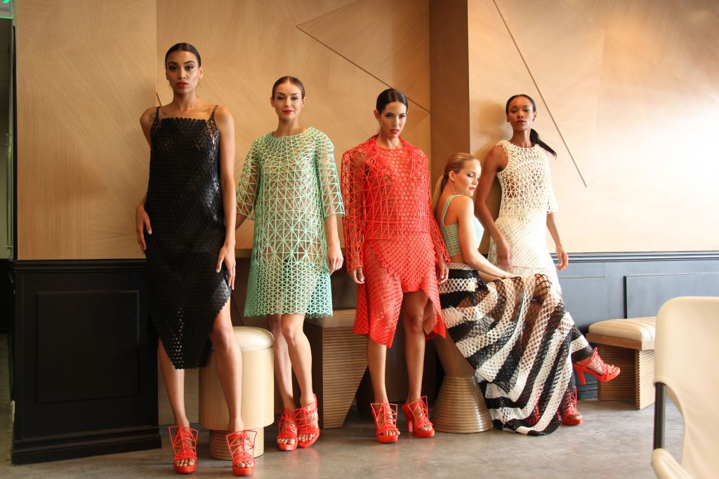 Peleg's five-piece, 3D-printed collection includes the shoes as well (Courtesy FABLife)