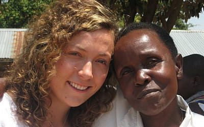 Jamie Zimmerman, then 25, on an American Jewish World Service student delegation trip to Uganda in the summer of 2009. (Amy Klein)