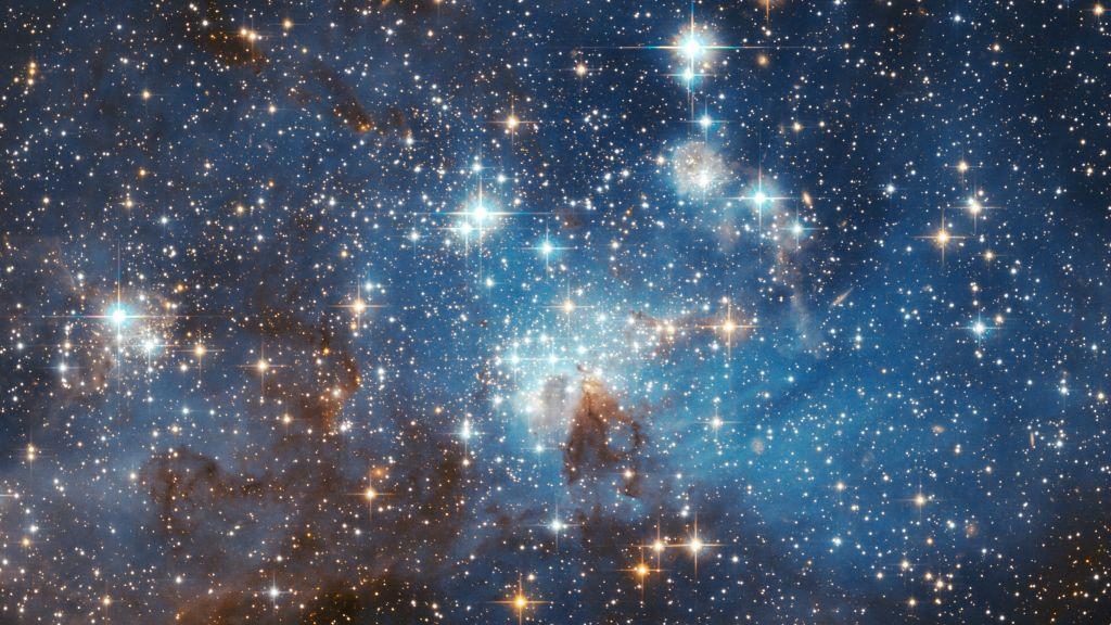 Lh  Stellar Nursery In The Large Magellanic Cloud Nasa Hubblesite Public