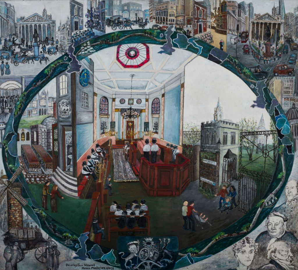 Artist Beverley-Jane Stewart's latest -- and perhaps most ambitious work -- is the story of the Victorian philanthropist Sir Moses Montefiore. (courtesy)