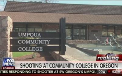 Umpqua Community College, Oregon where a shooting took place on October 1, 2015. (Screen capture: Fox News via YouTube)