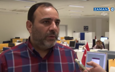 Today's Zaman editor-in-chief Bulent Kenes (screen capture: YouTube/ZamanTV)