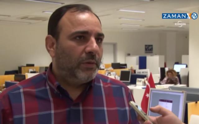 Today's Zaman editor-in-chief Bulent Kenes (screen capture: YouTube/ZamanTV)