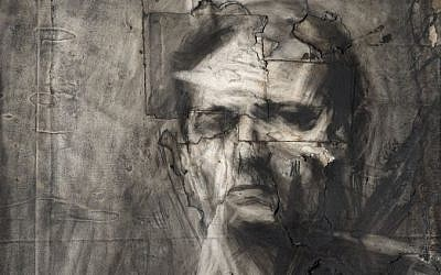 Detail from 'Frank Auerbach self-portrait,' charcoal and chalk on paper, 1958. (Courtesy: Daniel Katz Gallery)