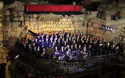 The Singing Men from Georgia, USA at the Tower of David Museum (Courtesy Ricky Rachman)