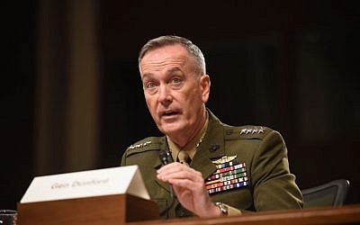 Gen. Joseph Dunford testifies on Capitol Hill in Washington, Tuesday, October 27, 2015. (AP/Kevin Wolf)