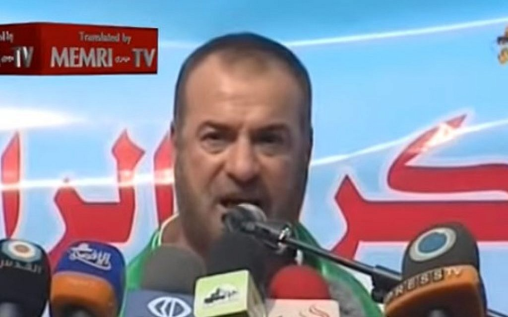 Former Hamas interior minister Fathi Hammad (YouTube screen capture)