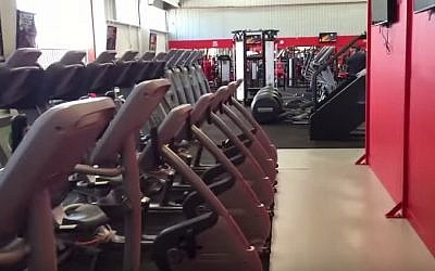 Treadmills at a gym, illustrative (YouTube screen capture)