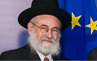 Dutch Chief Rabbi Binyomin Jacobs. (Geert Vanden Wijngaert/AP)