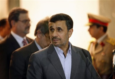 Former Iranian president Mahmoud Ahmadinejad in July 2013 (AP Photo/Hadi Mizban)
