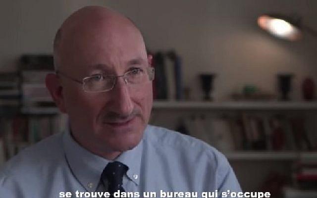 Holocaust and Anglo Jewry historian David Cesarani. (Screenshot/YouTube)